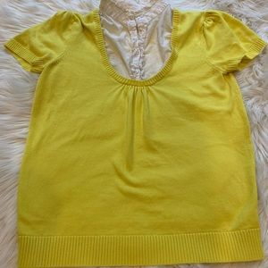 Two in one shortsleeved sweater blouse